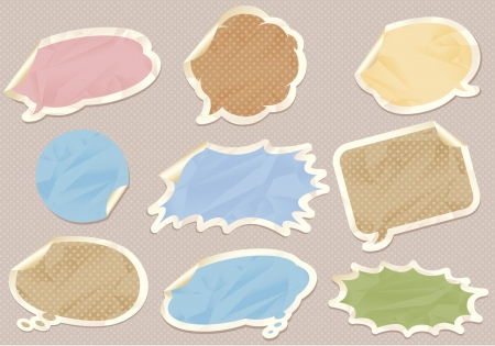 Vintage speech bubbles set Vector Stock Vector - 14494505