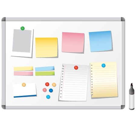whiteboard stationery Vector