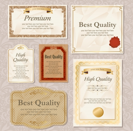 vintage labels set Stock Vector - 14787130