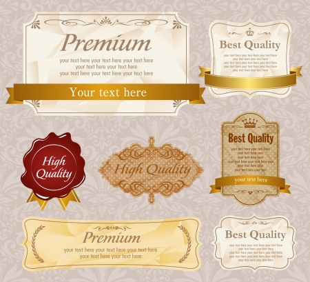 High quality & Premium labels set Stock Vector - 15209611