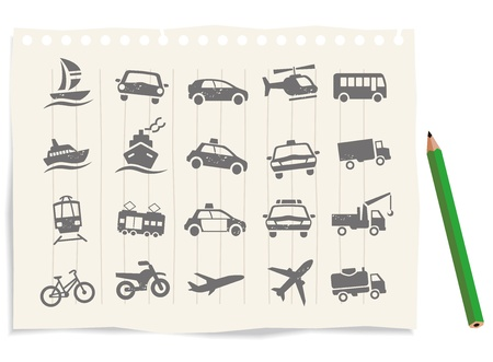 Transport Icons set vector Vector