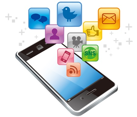cellphone icon: touch screen digital tablet Apps