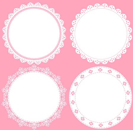 pastel background: lace cute