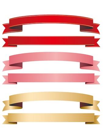 ribbon frame  イラスト・ベクター素材