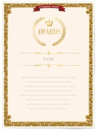 certificado: premio