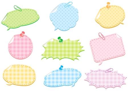 chat bubble with colorful pattern Ilustração