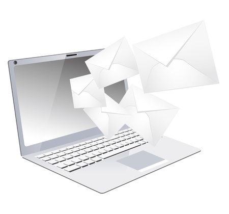 laptop mail Vector