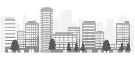 city background Ilustração