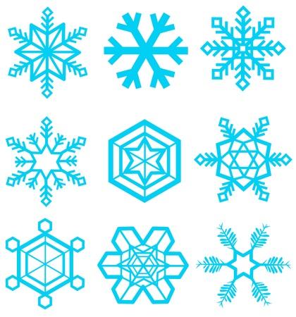 snowflake icon  Ilustração