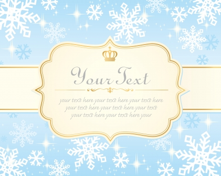 snow flake: xmas card template Illustration