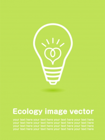 save energy icons: ecology poster