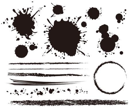 splotches: grounge elements set Illustration