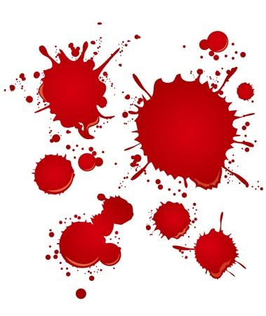 sangre set Ilustración de vector