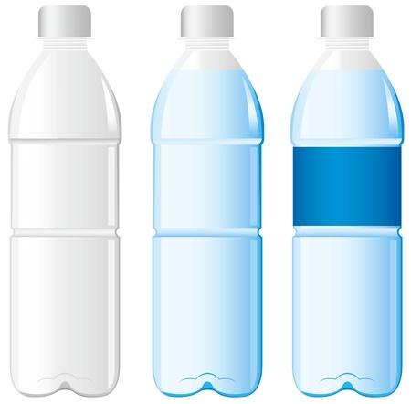 botella de plastico: botella de agua Vector Vectores