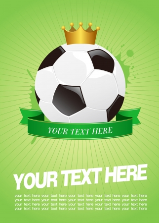 footie: soccer template Vector
