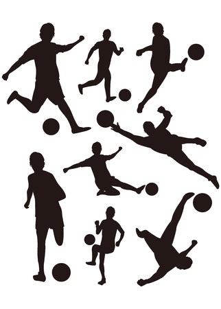 keeper: soccer silhouette