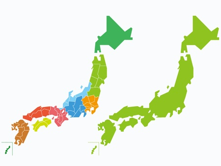 japanese map Stock Vector - 18015239