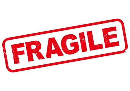 vector sello frágil Ilustración de vector
