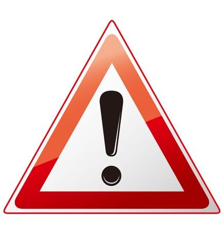 señales preventivas: Señal de peligro Vectores