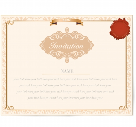 Invitation card design Stock Vector - 18676174