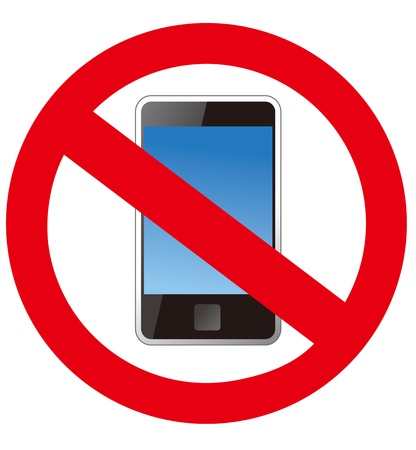 no cell phone sign: No smartphone sign Vector