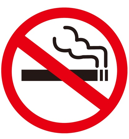 no smoking: No smoking sign  Illustration