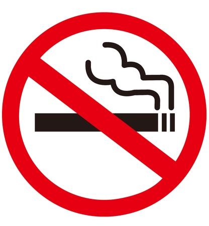 poison sign: No smoking sign  Illustration