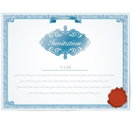 marriage certificate: Invitation card design