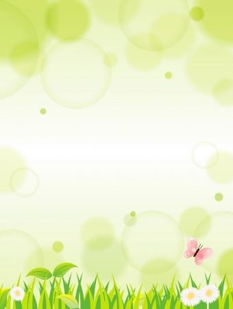 easter morning: natural green background with selective focus Illustration