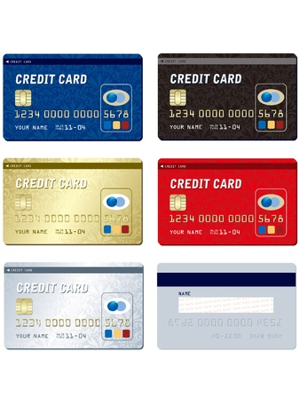 Credit card set Stock Vector - 19334397