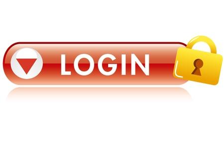 ログイン ボタンのアイコン  イラスト・ベクター素材