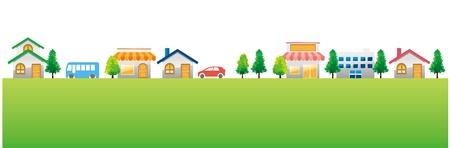 viviendas: ciudad de la ciudad de fondo