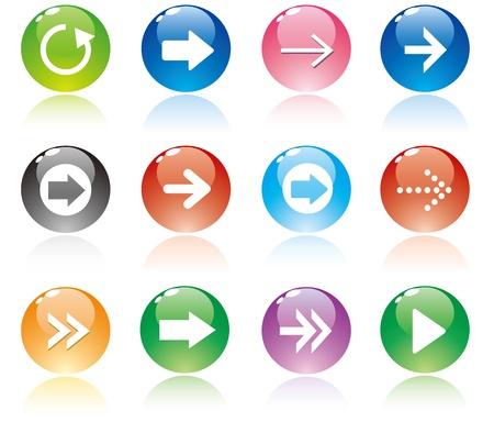 top pointer: Arrow sign icon set.  Illustration