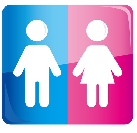 Colored male and female sign vector Stock Vector - 19895841