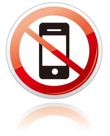No smartphone sign Vector Stock Vector - 19895846