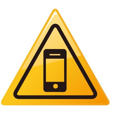No smartphone sign Vector   Stock Vector - 19895844