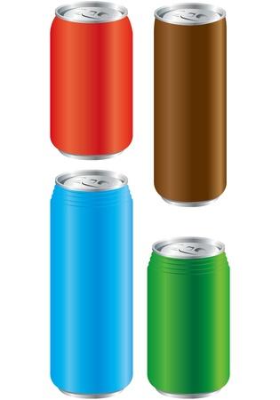 unprinted: lata de aluminio Vector