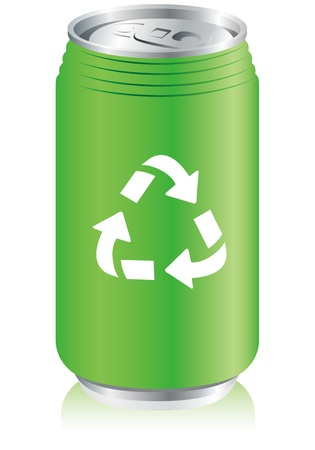 unprinted: aluminum can recycle  Vector  Illustration