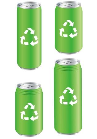 unprinted: de aluminio se puede reciclar vectorial