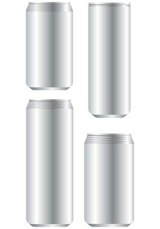 unprinted: aluminum can Vector