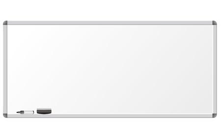 Tableau blanc isolé