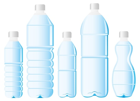soda bottle: pet bottle of water Illustration