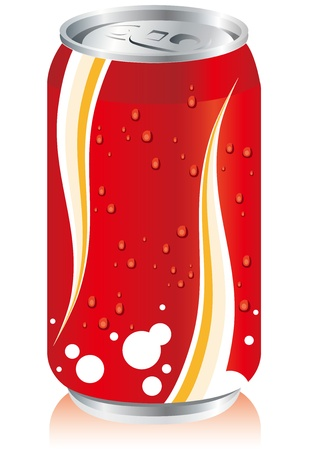 carbonated: drinks juice cans pet bottle Set  Illustration