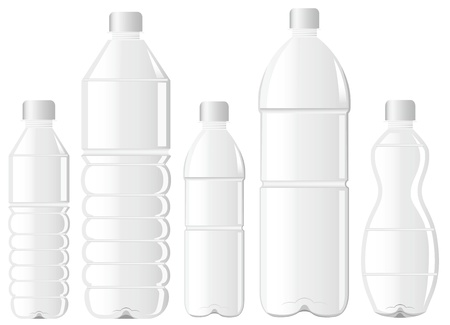 plastics: pet bottle bottle of water Illustration
