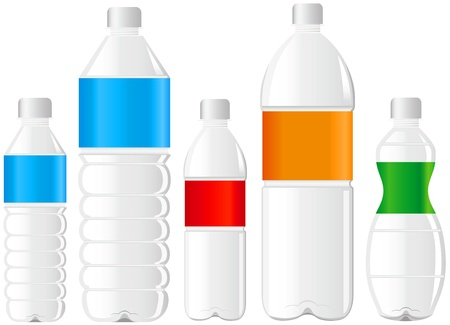 soda bottle: pet bottle bottle of water Illustration