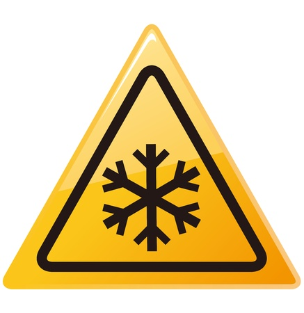 snow ahead warning sign Vector Stock Vector - 21981363