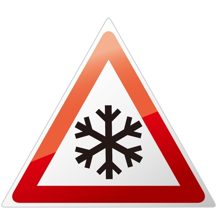 snow ahead warning sign  Stock Vector - 21981364