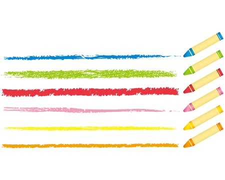 crayons: crayon collection Vector  Illustration