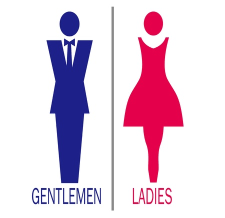 male and female sign Vector  Vector