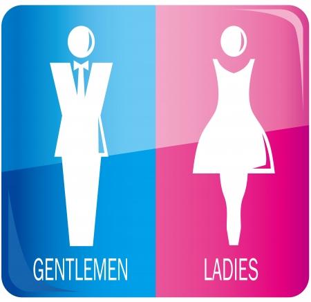 남성과 여성의 기호 벡터